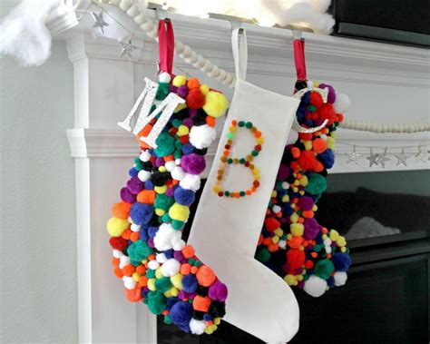 patterns for decorating christmas stockings how to make a pompom christmas stocking how tos diy