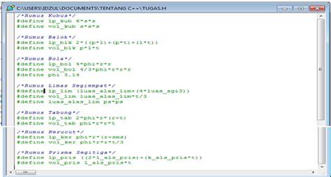 coretan hidup cara membuat animasi pada header dengan cms coretan program hitung luas dan volume bangun ruang