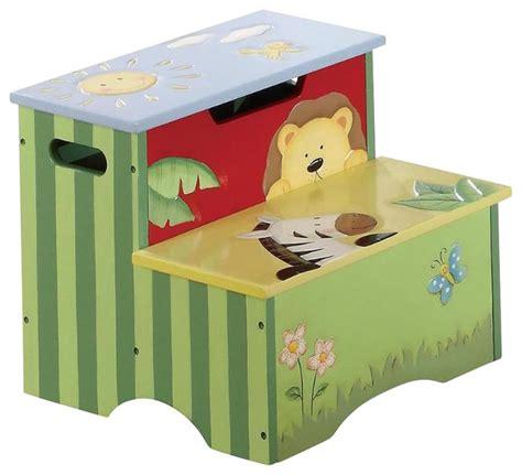 Kids Safari Bathroom Set - teamson kids sunny safari painted step stool transitional baby and kids by homesquare