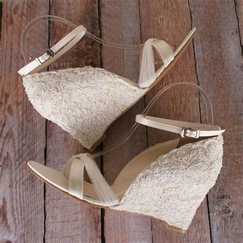 Ivory Wedding Wedges by Best 25 Bridal Wedges Ideas On Outdoor
