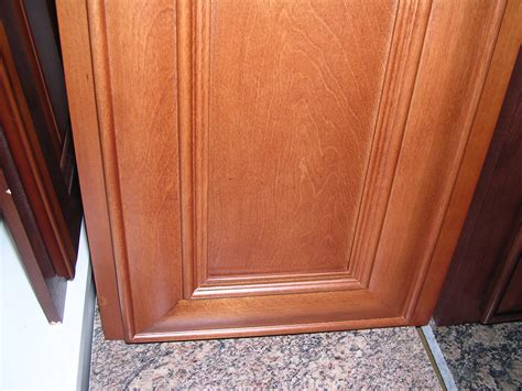 Exposed Cabinet Hinges by Honey Glazed Birch Kitchen Cabinets