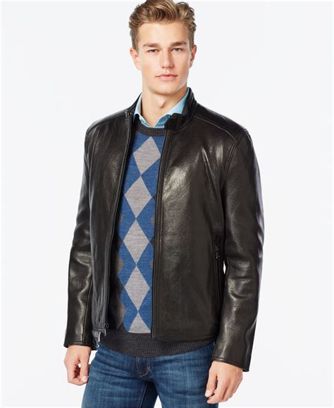 moto style jacket marc york moto style leather jacket in black for