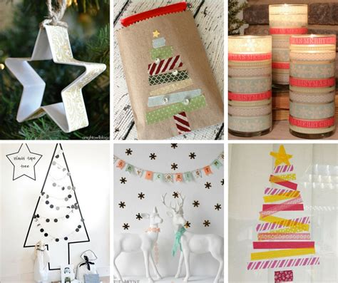 washi tape christmas craft 20 diy washi crafts the crafty stalker