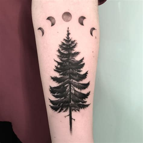 pine tree tattoo pine tree by ella at ink portland