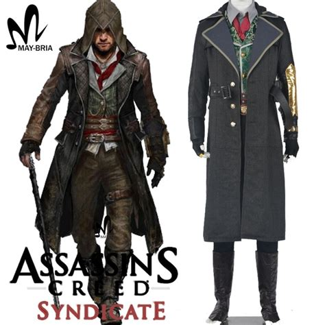 Jaket Model Bijuu Jaket Jaket Costplay Laris assassins creed costume assassins creed syndicate jacob costume assassin s creed