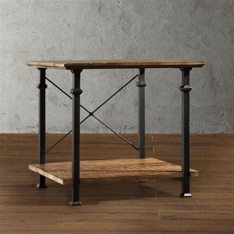 Rustic Accent Table Homehills Rustic End Table On Sale