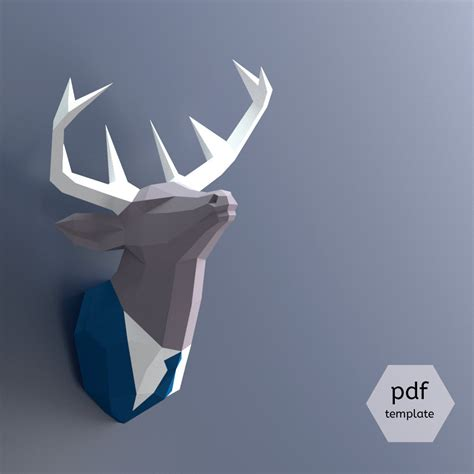 Papercraft Deer - papercraft deer make your own trophy paper trophy