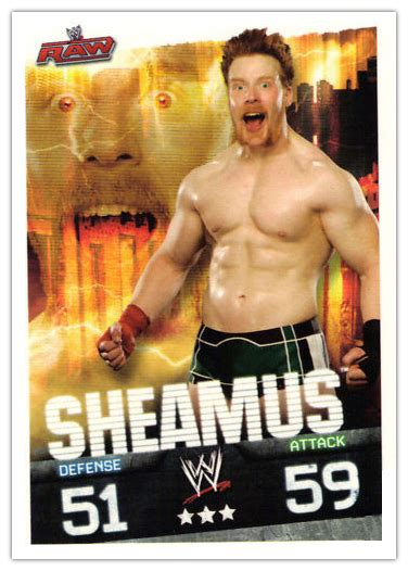 breaking news topps wwe slam attax cards provide  proof sheamus