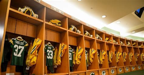 packers locker room the wearing of the green and gold photo gallery packers locker room
