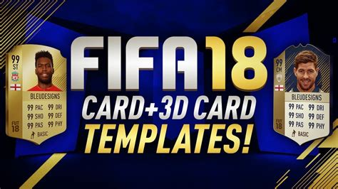Fifa 18 Card Template by Free Fifa 18 Card Template 3d Card Template Fifa 18