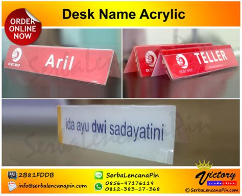 Papan Nama Ruangan Acrylic bikin acrylic desk name jual door sign 0812 383 17368