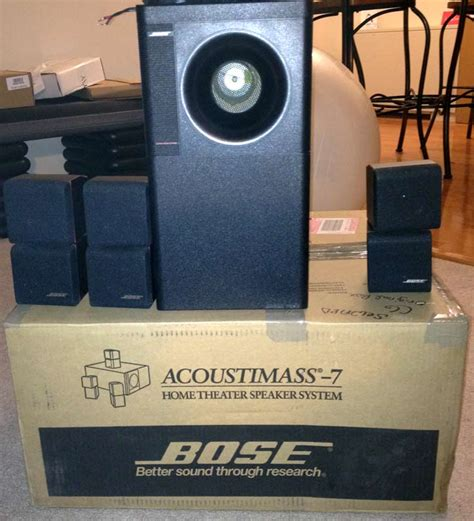 bose acoustimass  home theater speakers  cubes  bass
