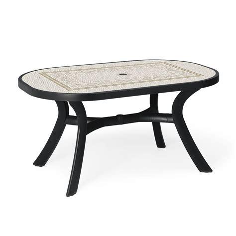 tables de jardins table de jardin plastique toscana ovale zendart design