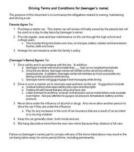 Contract Letter Format For Driver Driving Contract For Your New Driver Gordon Daugherty