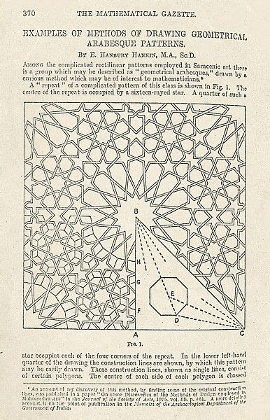 geometric pattern analysis han 013 methods of design ernest hanbury hankin