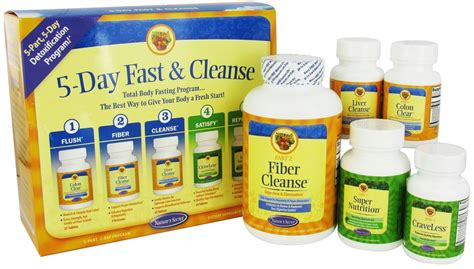 5 Day Detox Cleanse Pills by Nature S Secret 5 Day Fast And Cleanse 5 Part 5 Day Program