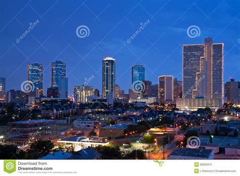 city of fort worth street lights fort worth texas at night stock photos image 26055913