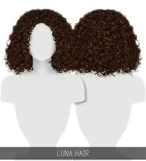the sims 4 natural curly hair spring4sims luna hair curly for the sims 4