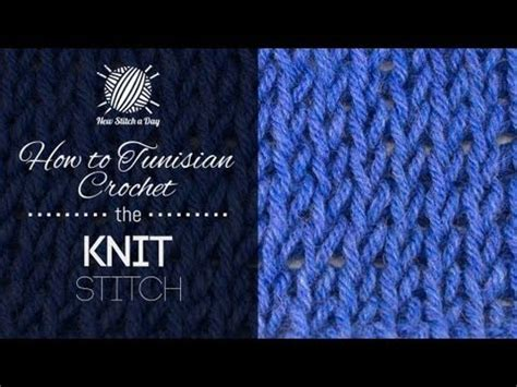 knit stitch left handed how to tunisian crochet the knit stitch left handed