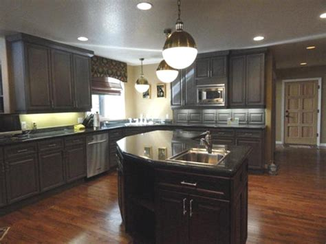 kitchens with dark brown cabinets kitchen with dark cabinets