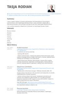 student assistant resume samples visualcv resume samples
