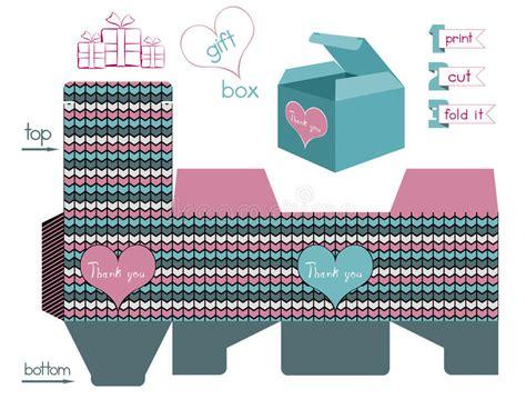 chevron pattern gift ideas printable gift box with chevron pattern stock vector
