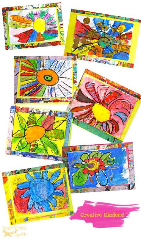 pattern artwork for kindergarten color line and pattern art project deep space sparkle