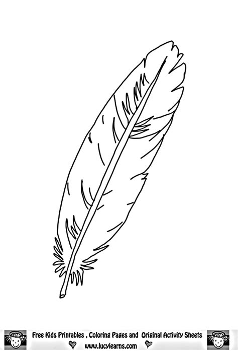 Eagle Feather Coloring Pages | feather eagle coloring page raa quot ر quot feather reesha ريشة