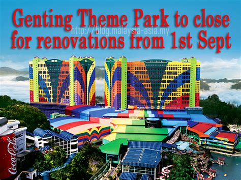 theme park genting highland genting theme park closed for renovations malaysia asia