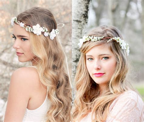 hair styles for thining hair on crown flower crown wedding hairstyles to marry this summer