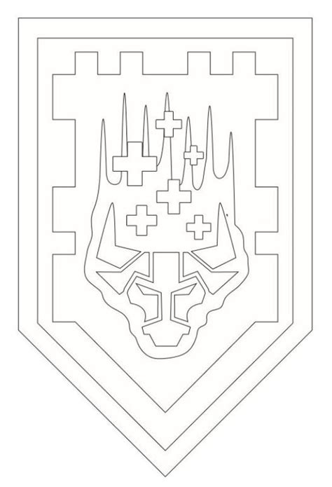 coloring page of a knight s shield kids n fun com coloring page lego nexo knights shields 3