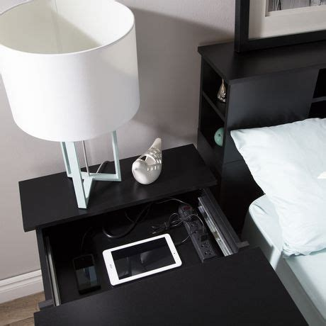 south shore vito nightstand with charging station and south shore vito nightstand with charging station and