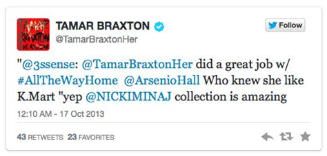 tamar braxton on chris brown diss she fights back says apparently k and tamar braxton really each