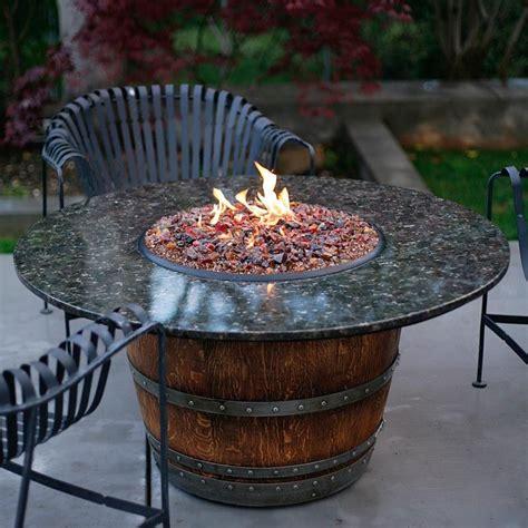 barrel pit table the reserve wine barrel pit table fireglass