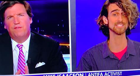 is tucker carlsons hair real tucker carlson schools overmatched antifa activist are