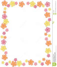 free download cute floral border frame beautiful spring flowers border