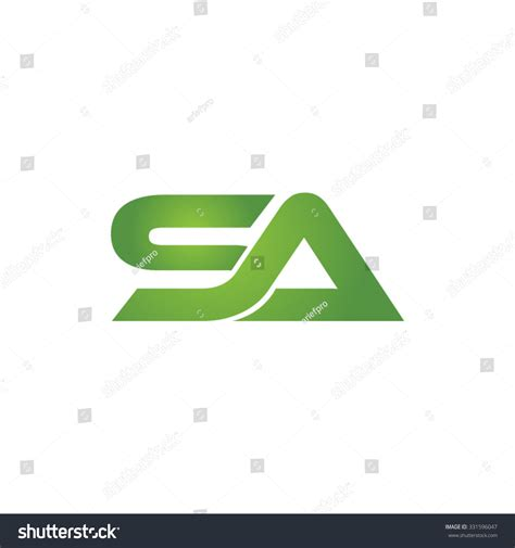 S A Sa S A sa company linked letter logo green stock vector 331596047