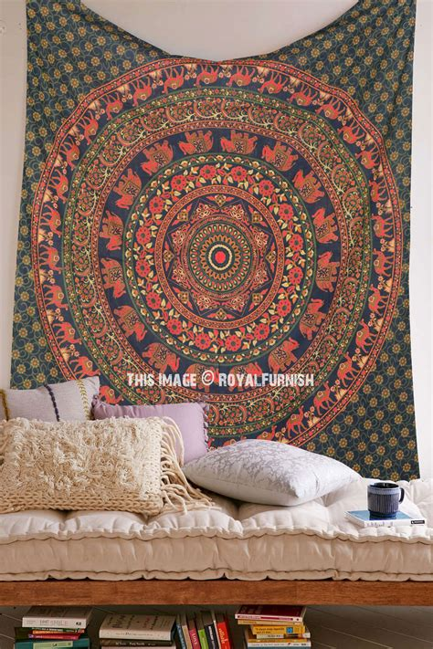 bed tapestry queen size mandala elephant medallion tapestry wall