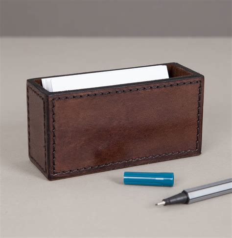 Personalized Leather Business Card Holder