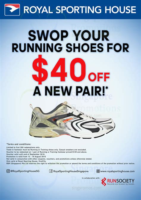 royal sporting house shoes royal sporting house trade in get 40 off new running shoes at vivocity from 12