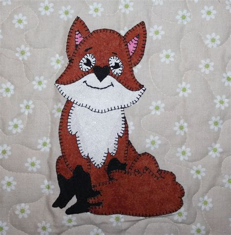 patchwork applique patterns fox pdf applique quilt block pattern baby quilt pattern