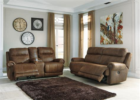 austere power reclining sofa signature design by austere brown 3840047 2 seat