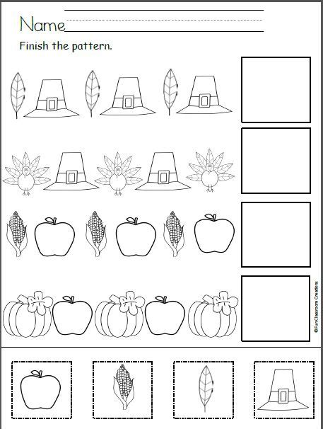 extra pattern practice unit 5 36 best kindergarten november images on pinterest