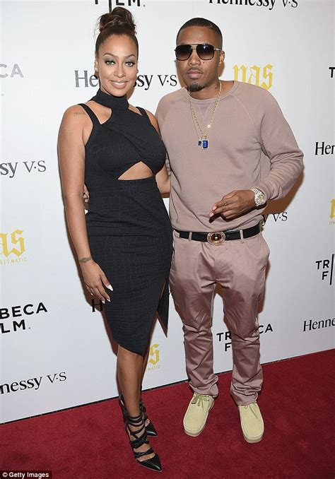Lala Shirt Dress Point One la la anthony shows as she attends premiere of