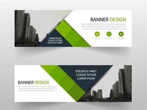 layout desain spanduk 10 contoh background banner horizontal dengan tilan