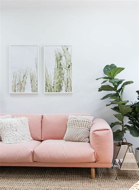 Pink And Green Sofa by 25 Best Ideas About Pink Sofa On Blush Grey
