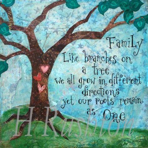 family quote family tree mixed media print home etsy