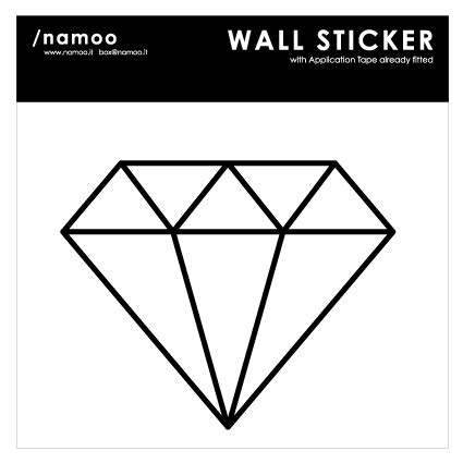 diamante wall stickers wallsticker with application already fitted