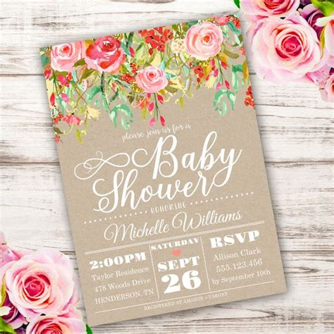 Shabby Chic Baby Shower Invites by Best 25 Baby Shower Invitation Templates Ideas On
