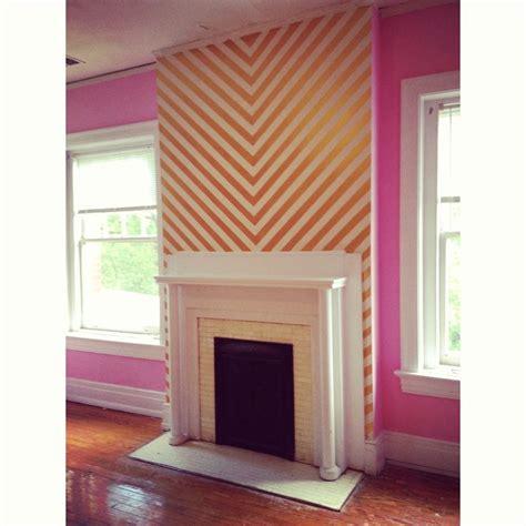pink chevron bedroom pink gold chevron wall pink gold pinterest